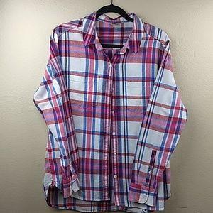 Woolrich Plaid Flannel Button Down Size XXL
